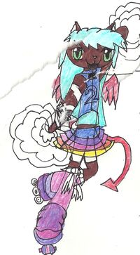 Kalli in Cheerleading outfit