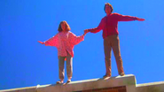 Eric Gibb is able to fly, and can extend that power to others by holding their hand.