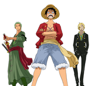 Luffy, Zoro, and Sanji
