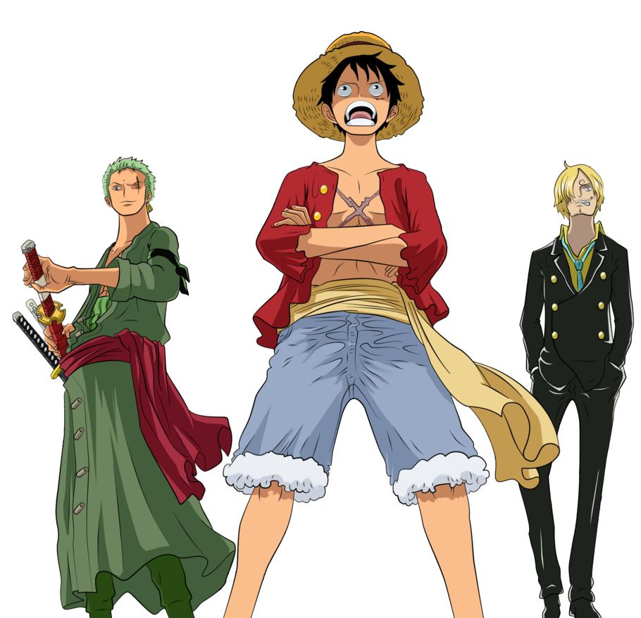Image - Luffy, Zoro, a...