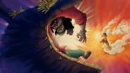 Image - Luffy Uses Jet Pistol on Blackbeard
