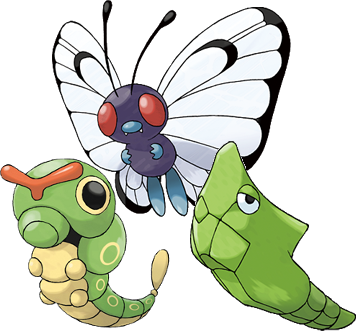 File:Caterpie Evolutions.png