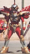 Red Battle Warrior Armor