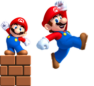 Small Mario and Super Mario