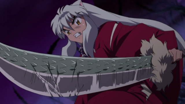 File:InuYasha wielding the Dragon-Scaled Tessaiga.png
