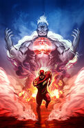 Captain Atom and the flash