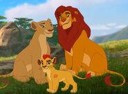 Simba, Nala and Kion