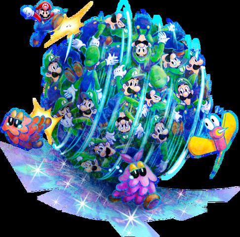 File:Luiginary Attack Artwork1 - Mario & Luigi Dream Team.png