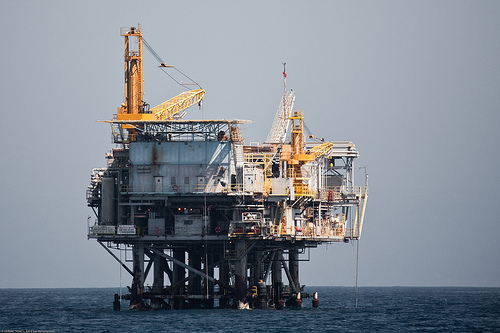 File:Oil Drilling Platform in the Santa Barbara CA Channel.jpg