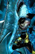 Wolverine Vs. A Shark