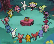 Bubbles dancing with the animals