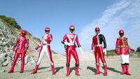 Goseiger vs. Shinkenger - All Red