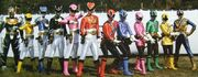 The Goseigers and Shinkengers Team Up