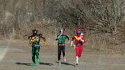 Akaranger, Kamen Rider Ichigo,and OOO
