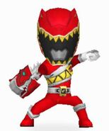 Red Dino Charge Ranger Armored On In Power Rangers Dash