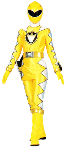 File:Yellow Dino Ranger & AbareYellow.png