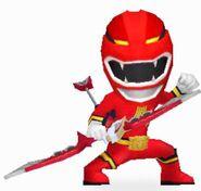 Red Wild Force Ranger in Power Rangers Dash