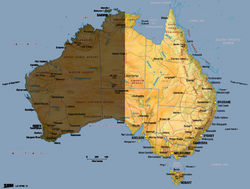 Australia map East copy