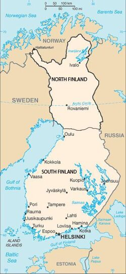 N Finland Map