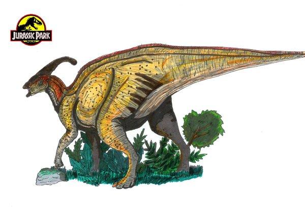 File:Jurassic Park Parasaurolophus by hellraptor-1-.jpg
