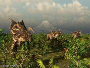 Einiosaurus grazing 600