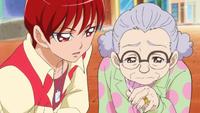 KKPCALM10 Akira with old lady