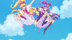 MTPC02 - Cure Miracle and Cure Magical about to kick