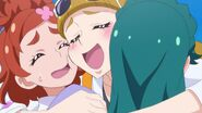 Stella Hugging Huruka and Manami