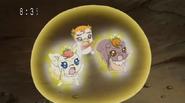 Coco y nutts protejiendo a syrup