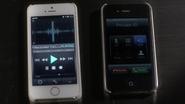 Aria's phone and caleb's phone