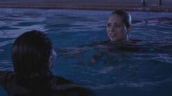Sara and emily swimming