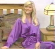 Teri Harrison in Satin Sleepwear-14