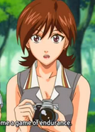 Shiba holding her camera