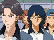 Hyotei Lining up for the Nationals Tournament