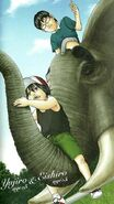 Kai and Kite during childhood