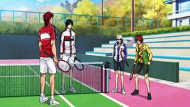 Oni, Tokugawa, Ryoma and Kintaro prior to their quick matches