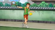 Horio actually hit a ball, like, he actually hit it