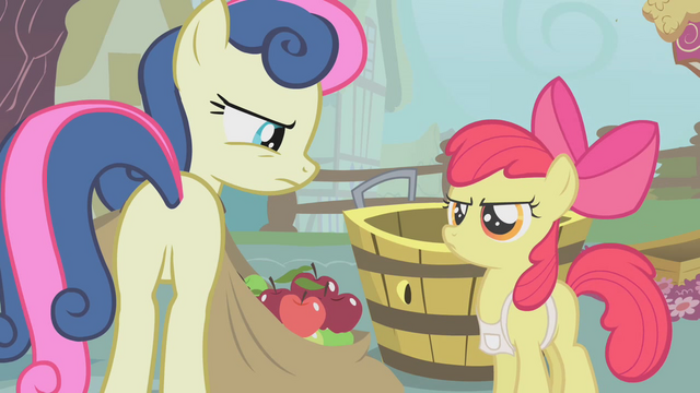 File:Apple Bloom fills Sweetie Drops's bags with apples S1E12.png