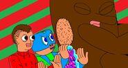 Christmas dork Face Sticker