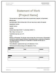 Statement of Work Templates, Project Definition