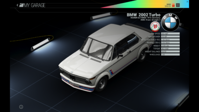 Project Cars Garage - BMW 2002 Turbo