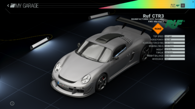 Project Cars Garage - Ruf CTR3