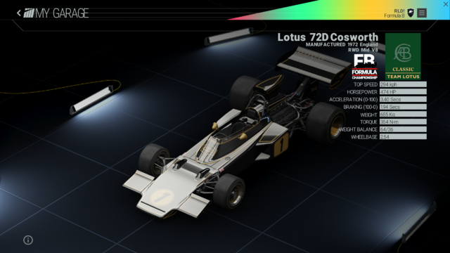 File:Project Cars Garage - Lotus 72D Cosworth.png