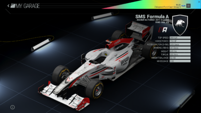 Project Cars Garage - SMS Formula A