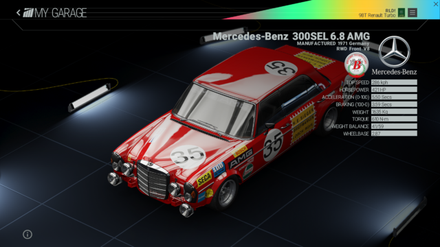 File:Project Cars Garage - Mercedes-Benz 300SEL 6.8 AMGpng.png