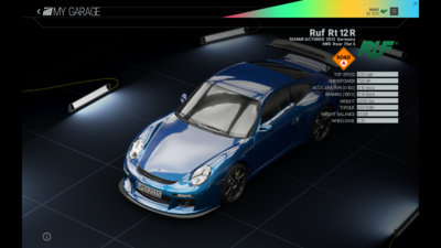 Project Cars Garage - Ruf Rt 12R