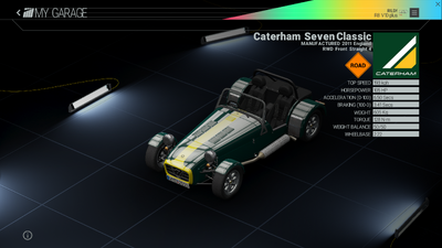 Project Cars Garage - Caterham Seven Classic
