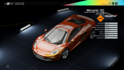 Project Cars Garage - McLaren 12C