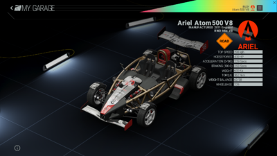 Project Cars Garage - Ariel Atom 500 V8