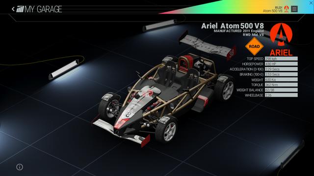 File:Project Cars Garage - Ariel Atom 500 V8.png